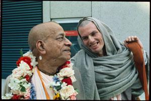 Srila Prabhupada with Hansadutta das