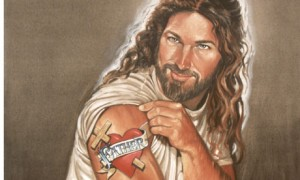 Jesus w tattoo