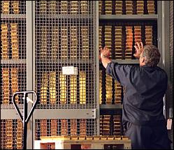 Swiss bank gold vault