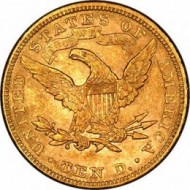 US ten dollar gold coin
