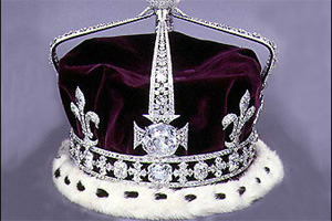 Kohinoor diamond crown