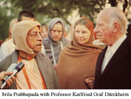 Prof Durckheim w Prabhupada