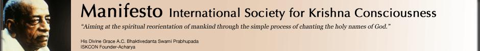 ISKCON Manifesto